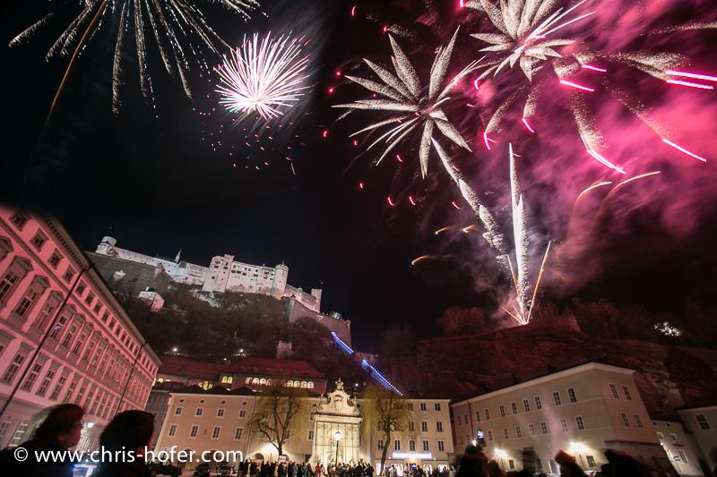 Silvester in der Stadt Salzburg, 2012-12-31; Foto: Chris Hofer