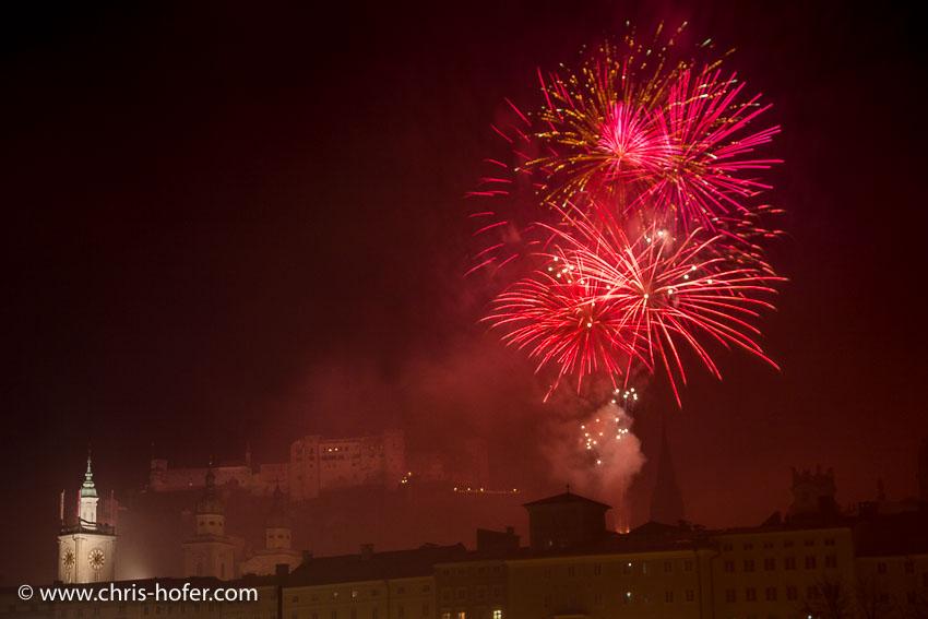 Silvesterfeuerwerk Salzburg 31.12.2016 Foto: Chris Hofer