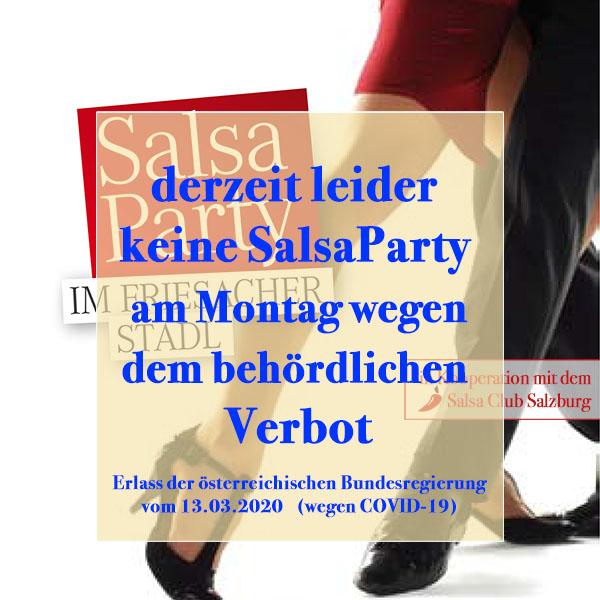 Abgesagt Salsaparty im Friesacher Stadl wegen Covid-19